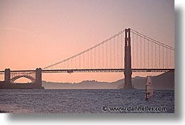 bridge, california, golden gate, golden gate bridge, horizontal, national landmarks, san francisco, west coast, western usa, windsurf, photograph
