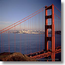bridge, california, golden gate, golden gate bridge, national landmarks, san francisco, square format, west coast, western usa, photograph