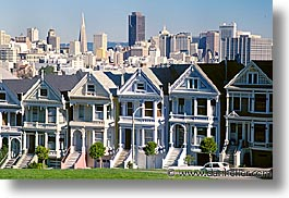 california, homes, horizontal, rowhouses, san francisco, sisters, west coast, western usa, photograph