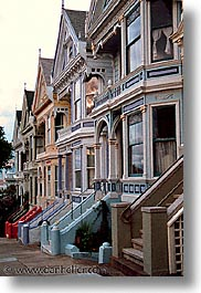 california, homes, san francisco, sisters, vertical, victorians, west coast, western usa, photograph