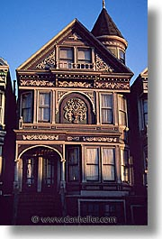 california, homes, san francisco, vertical, victorians, west coast, western usa, photograph