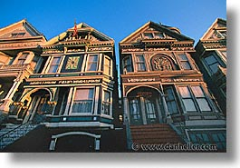 california, homes, horizontal, san francisco, victorians, west coast, western usa, photograph