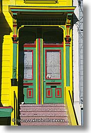california, doors, homes, san francisco, vertical, west coast, western usa, photograph
