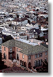 california, heights, homes, pac, san francisco, vertical, west coast, western usa, photograph