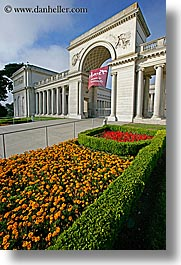california, flowers, gardens, legion of honor, museums, san francisco, vertical, west coast, western usa, photograph