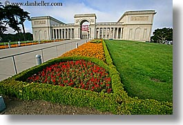 california, flowers, gardens, horizontal, legion of honor, museums, san francisco, west coast, western usa, photograph