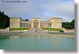 california, horizontal, legion of honor, museums, pond, san francisco, west coast, western usa, photograph