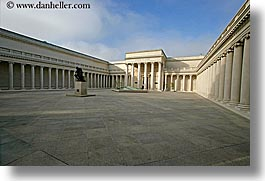 california, courtyard, horizontal, legion of honor, main, museums, san francisco, west coast, western usa, photograph