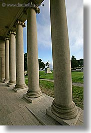 california, legion of honor, museums, pillars, san francisco, vertical, west coast, western usa, photograph