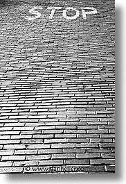 black and white, bricks, california, roads, san francisco, vertical, west coast, western usa, photograph
