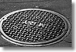 california, horizontal, manholes, san francisco, west coast, western usa, photograph