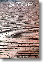 bricks, california, red, roads, san francisco, vertical, west coast, western usa, photograph