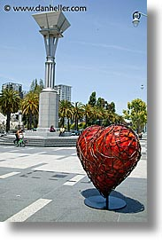 california, fran, hearts, san francisco, vertical, west coast, western usa, photograph