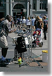 california, drummer, san francisco, streets, vertical, west coast, western usa, photograph