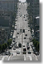 california, cars, san francisco, streets, traffic, vertical, west coast, western usa, photograph