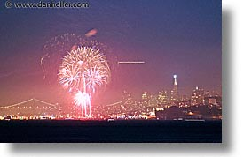 california, downtown, fireworks, horizontal, long exposure, nite, san francisco, west coast, western usa, photograph