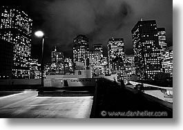 black and white, california, cities, horizontal, nite, san francisco, west coast, western usa, photograph