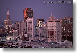 california, downtown, dusk, horizontal, nite, san francisco, west coast, western usa, photograph