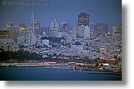 california, downtown, fort, horizontal, mason, nite, san francisco, slow exposure, west coast, western usa, photograph