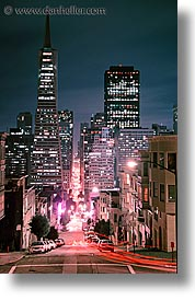 california, green, montgomery, nite, san francisco, vertical, west coast, western usa, photograph
