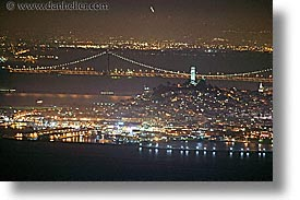 bay bridge, california, horizontal, long exposure, nite, north beach, san francisco, west coast, western usa, photograph