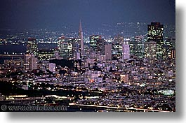 california, horizontal, nite, san francisco, west coast, western usa, photograph