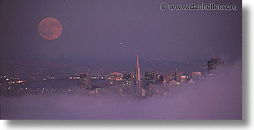 california, horizontal, moonrise, nite, panoramic, san francisco, west coast, western usa, photograph