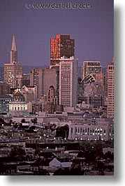 california, cityscapes, nite, san francisco, vertical, west coast, western usa, photograph