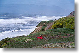 bay, bikers, california, horizontal, ocean, san francisco, west coast, western usa, photograph