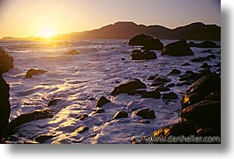 bay, california, horizontal, ocean, san francisco, sunsets, west coast, western usa, photograph