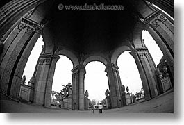 black and white, california, cloisters, eyes, horizontal, palace of fine art, san francisco, west coast, western usa, photograph