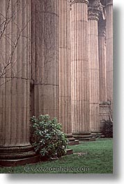 california, palace of fine art, pillars, san francisco, vertical, west coast, western usa, photograph