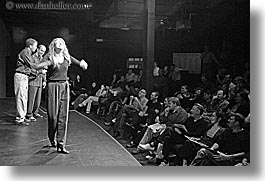 actors, audience, black and white, california, horizontal, people, san francisco, west coast, western usa, photograph