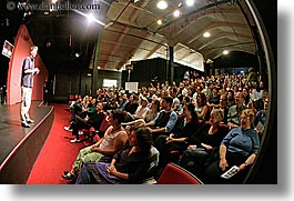 actors, audience, california, fisheye lens, horizontal, people, san francisco, west coast, western usa, photograph