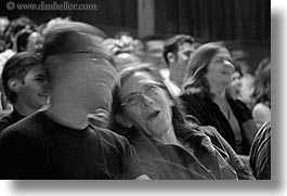 audience, black and white, california, horizontal, members, people, san francisco, slow exposure, west coast, western usa, photograph