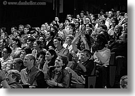 audience, black and white, california, full, horizontal, people, san francisco, west coast, western usa, photograph