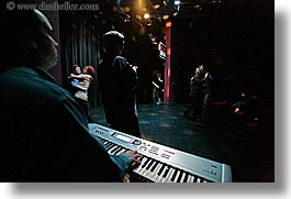 back stage, california, dancers, horizontal, keyboard, people, san francisco, west coast, western usa, photograph
