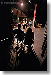 back stage, behind, california, from, peek, people, san francisco, vertical, west coast, western usa, photograph