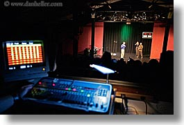 back stage, boards, california, horizontal, lighting, people, san francisco, stage, west coast, western usa, photograph