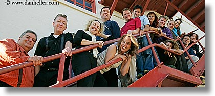 california, groups, horizontal, outside, panoramic, people, san francisco, stairs, west coast, western usa, photograph