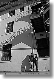 black and white, california, groups, jenny, johns, people, san francisco, two, vertical, west coast, western usa, photograph