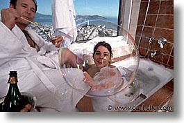 bathtub, bubbles, california, horizontal, people, san francisco, tub, west coast, western usa, photograph