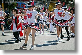 california, carnival, dancing, hearts, horizontal, people, private industry counsel, red, san francisco, west coast, western usa, youth opportunity, photograph