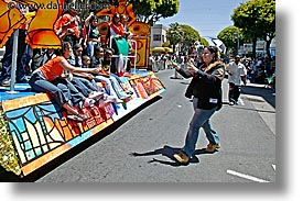 california, carnival, fans, floats, horizontal, people, private industry counsel, san francisco, west coast, western usa, yo sf, youth opportunity, photograph
