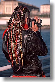 braids, california, colors, people, san francisco, vertical, west coast, western usa, photograph
