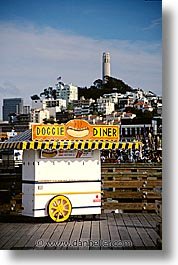 california, diners, doggie, piers, san francisco, streets, vertical, west coast, western usa, photograph
