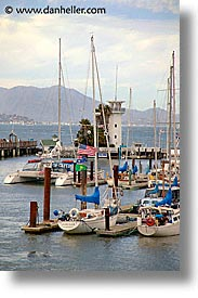 boats, california, piers, san francisco, vertical, west coast, western usa, wharf, photograph