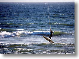 california, horizontal, parasailing, san francisco, surfing, west coast, western usa, photograph