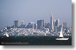 california, horizontal, sailboats, san francisco, surfing, transamerica, west coast, western usa, photograph