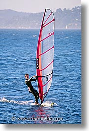 california, san francisco, surfing, vertical, west coast, western usa, windsurfer, photograph